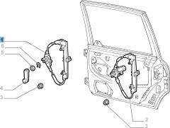 Elevalunas manual trasero izquierdo para Fiat y Fiat Professional