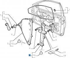 Elevalunas eléctrico izquierdo para Fiat y Fiat Professional