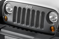 Rejilla delantera negra satinada para Jeep