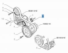Tensor de correa fijo para Fiat y Fiat Professional